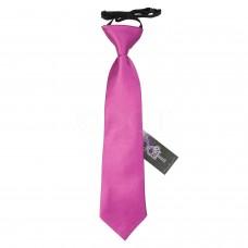 Gumis gyermek nyakkendő - sötét rózsaszín