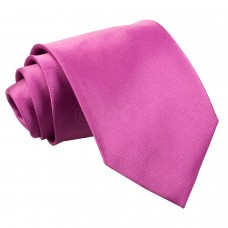 Egyszínű nyakkendő - sötét rózsaszín