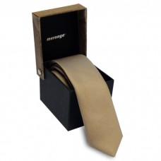 Keskeny nyakkendő dobozban - bézs