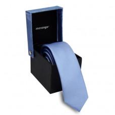Keskeny, világoskék nyakkendő dobozban