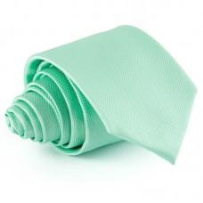 Türkizzöld, anyagában mintás nyakkendő