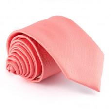 Korall színű, anyagában mintás nyakkendő