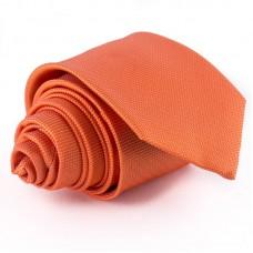 Narancssárga, anyagában mintás nyakkendő