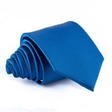 Kobaltkék, anyagában mintás nyakkendő