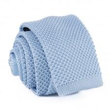 Keskeny, kötött nyakkendő - babakék