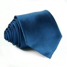 Modern szabású egyszínű nyakkendő - királykék