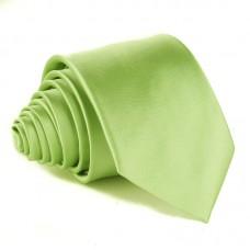 Modern szabású egyszínű nyakkendő - lime zöld