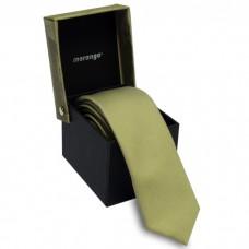Keskeny nyakkendő dobozban - világoszöld