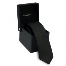 Keskeny nyakkendő dobozban - sima fekete