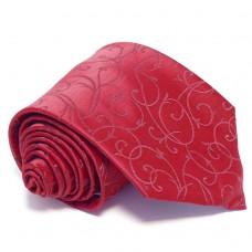 Anyagában mintás, sötét piros nyakkendő díszzsebkendővel