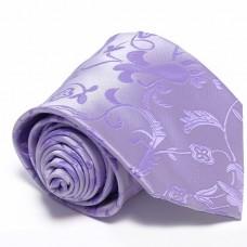 Anyagában mintás, lila nyakkendő díszzsebkendővel