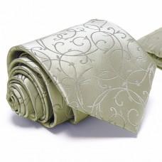 Anyagában mintás, ezüstszürke nyakkendő díszzsebkendővel