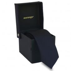 Keskeny, sötétkék nyakkendő dobozban