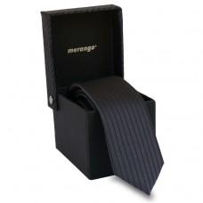 Keskeny, sötétszürke nyakkendő dobozban