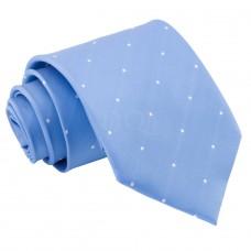 Aprópöttyös nyakkendő - babakék