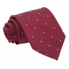Aprópöttyös nyakkendő - burgundi