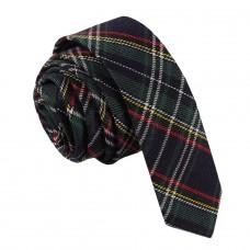 Keskeny, mintás nyakkendő - kék/zöld