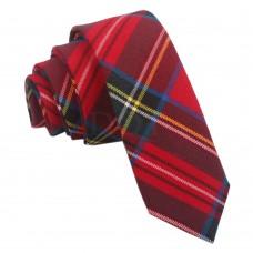 Keskeny, mintás nyakkendő - piros
