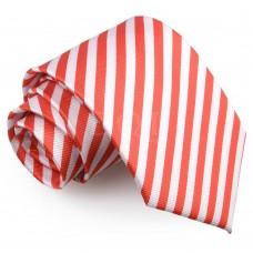 Csíkos nyakkendő - fehér/piros