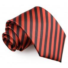 Csíkos nyakkendő - fekete/piros