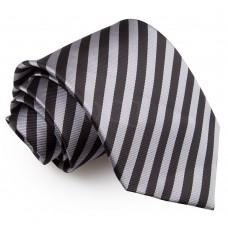 Csíkos nyakkendő - fekete/szürke