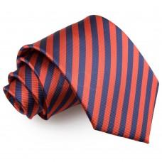 Csíkos nyakkendő - sötétkék/piros