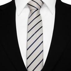 Keskeny nyakkendő - ezüst/sötétkék