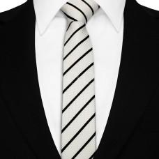 Keskeny nyakkendő - fehér/fekete