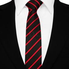 Keskeny nyakkendő - fekete/piros