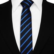 Keskeny nyakkendő - sötétkék/kék