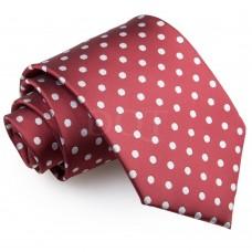 Pöttyös nyakkendő - burgundi