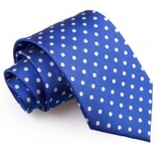 Pöttyös nyakkendő - kobaltkék