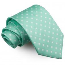 Pöttyös nyakkendő - mentazöld