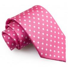 Pöttyös nyakkendő - pink
