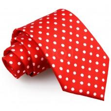 Pöttyös nyakkendő - piros