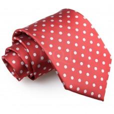 Pöttyös nyakkendő - sötétpiros