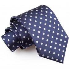 Pöttyös nyakkendő - tengerészkék