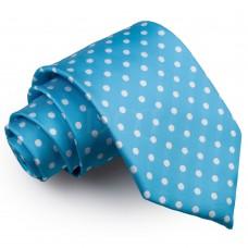 Pöttyös nyakkendő - égszínkék