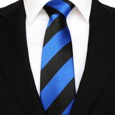 Széles csíkos - kék/fekete