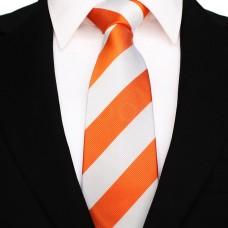 Széles csíkos - narancssárga/fehér