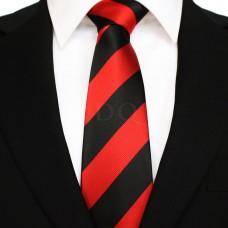 Széles csíkos - piros/fekete