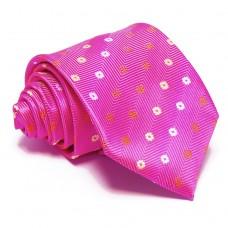 Magenta nyakkendő - virágmintás