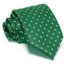Zöld nyakkendő - fehér mintás