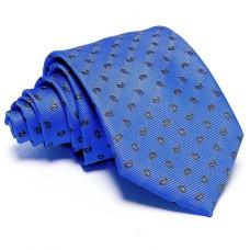 Kék nyakkendő - barna-mintás