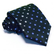 Tengerészkék nyakkendő - fehér-kék csillagos