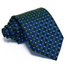 Sötétkék, fekete-kockás nyakkendő