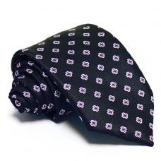 Tengerészkék nyakkendő - lila mintás