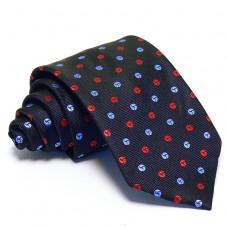 Tengerészkék nyakkendő - babakék-piros mintás