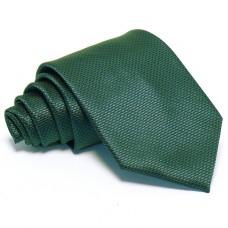 Sötétzöld nyakkendő - anyagában mintás