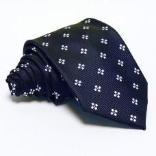 Tengerészkék nyakkendő - fehér mintás
